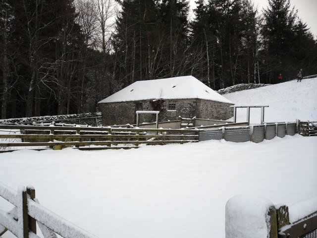 Sheep pens and Bothy, Newarkburn