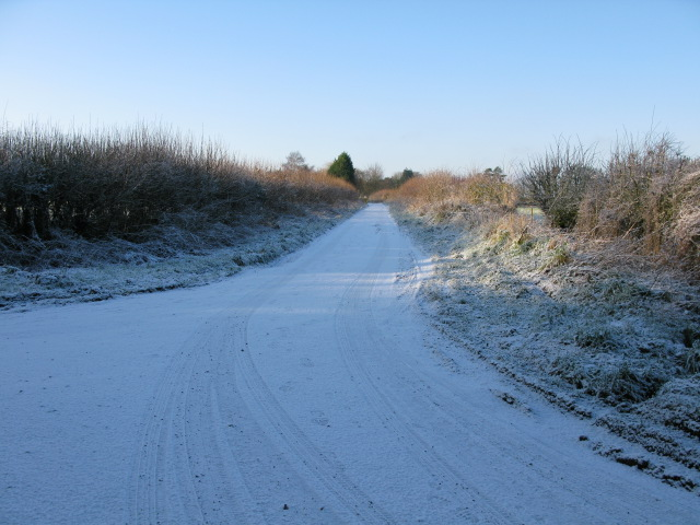 View along Short Drove from the junction with The Lane