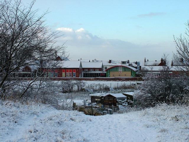 Newton Hill Primary School in the snow