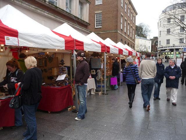 Exeter : High Street Stalls