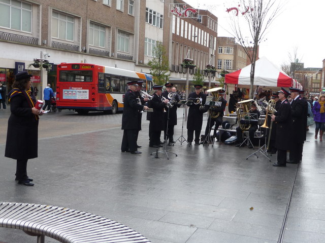 Exeter : High Street & Salvation Army Band
