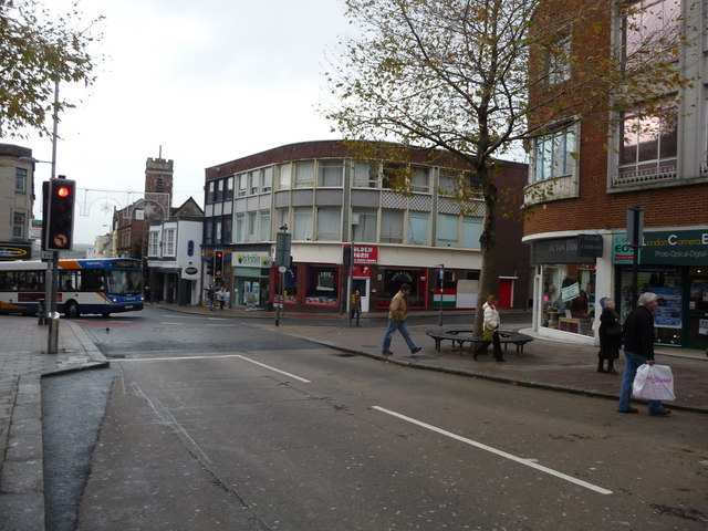 Exeter : High Street & Road Junction