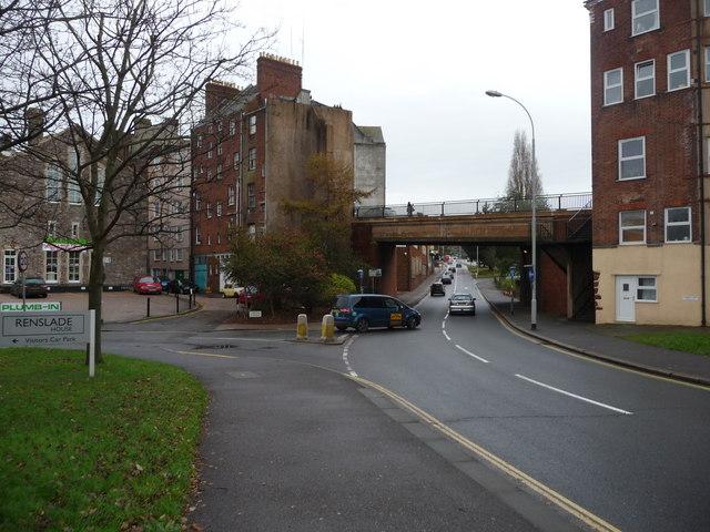 Exeter : Frog Street & Tudor Street Junction
