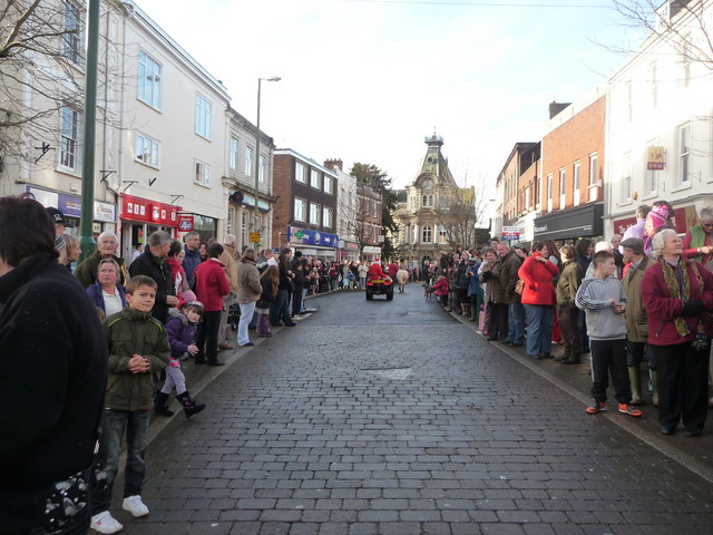 Tiverton : Fore Street on Boxing Day 2009