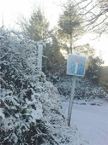 Wonky Road Sign in Sardis