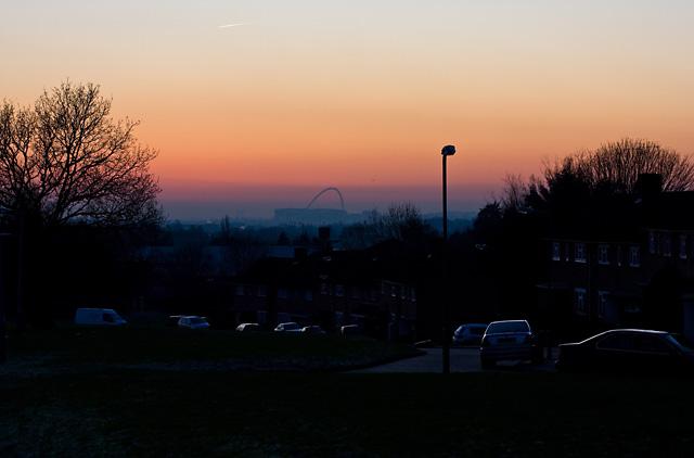 Wembley Sunset