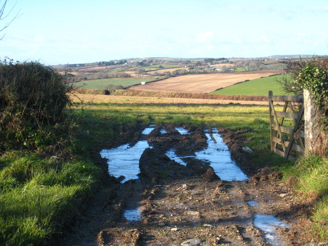 Looking towards Trenarth from Durgan crossroads