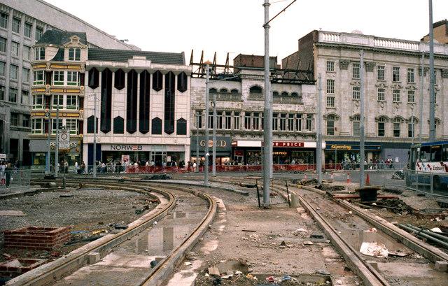 Manchester:  Mosley Street/ Market Street junction