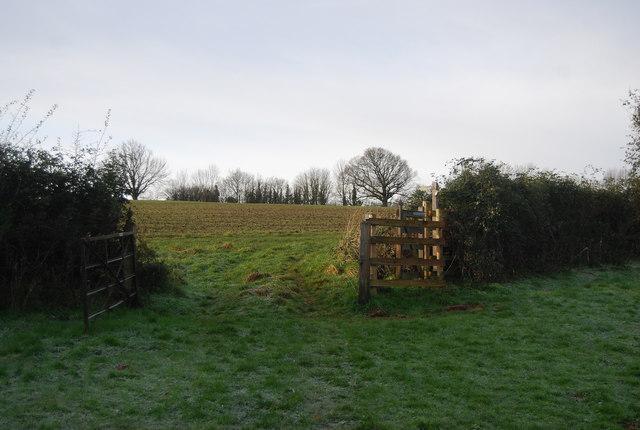 Stile & gate on the footpath