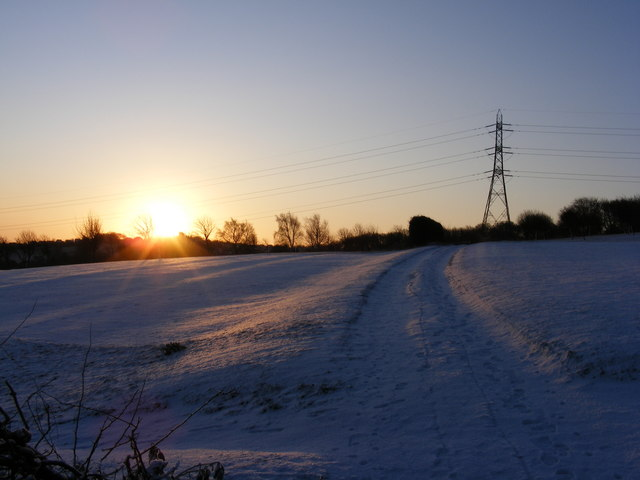Birley Wood Golf Course  - January 2010 sunrise.