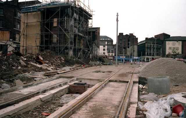 Manchester:  looking towards Shudehill