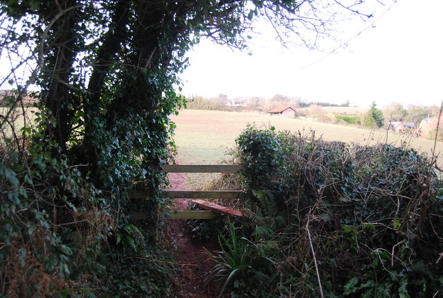 Stile on the path to Golsoncott