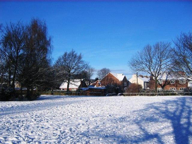 Snow-laden Park, Guisborough (view north)