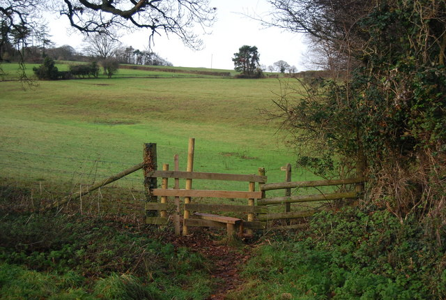 Stile on the edge of the grounds of Croydon Hall