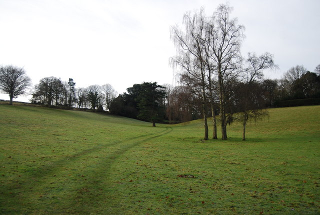 Footpath in the grounds of Croydon Hall