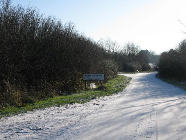 Road into Bishopstone village