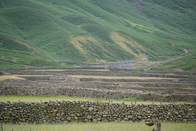 Dry stone walls at Wasdale Head