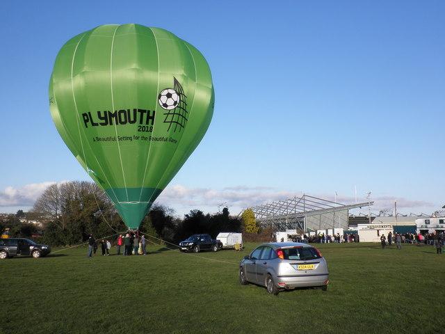 Hot air balloon, Central Park Plymouth