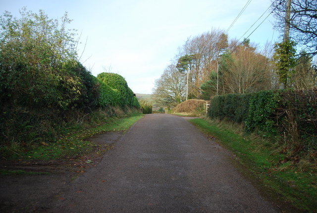 Entrance drive to Croydon Hall