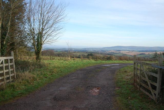 View east from near Croydon Hall