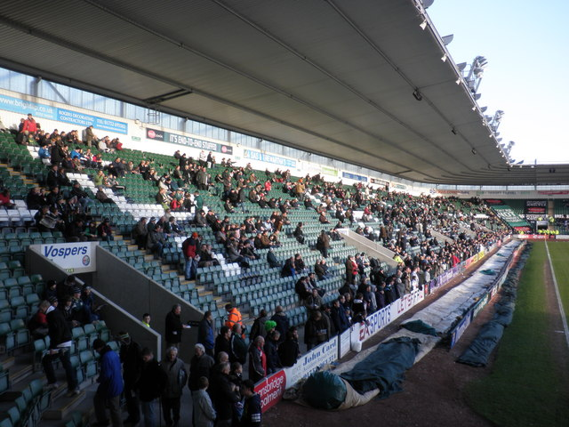 The Lyndhurst stand, Plymouth Argyle FC