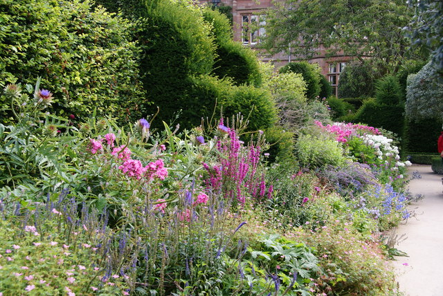 A herbaceous border at Holker Hall