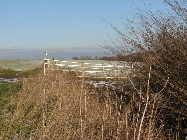 Bridge over drainage ditch