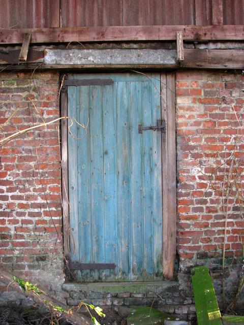 Faded old shed door