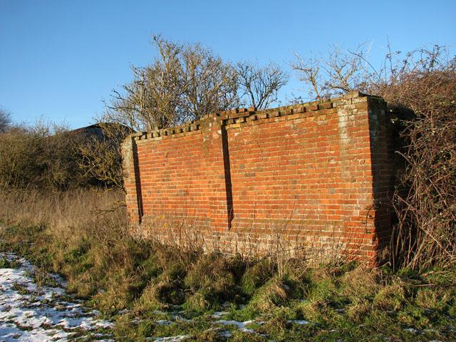 Remains of a brick barn