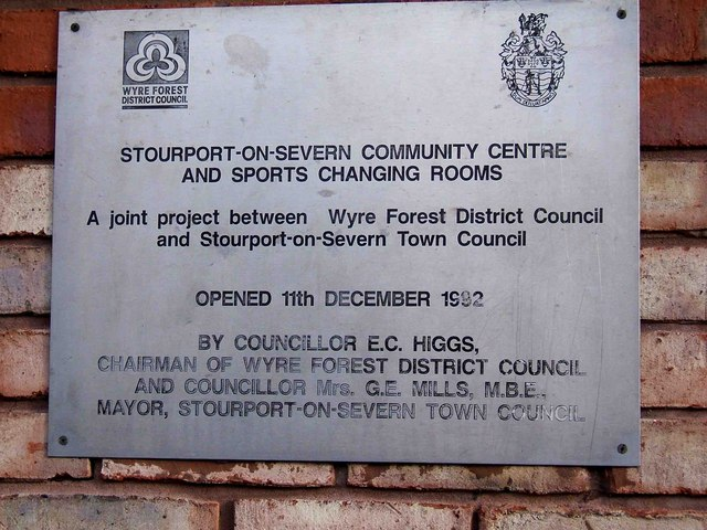 Sign on Stourport-on-Severn Community Centre