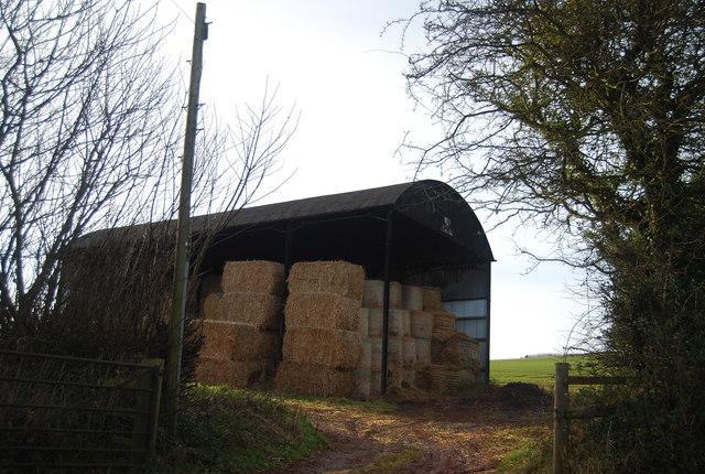 Hay stored in a barn, Felon's Oak