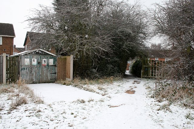 Footpath and old garage