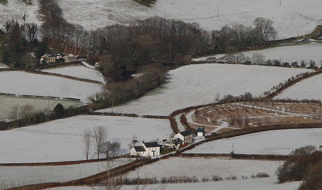 Cwm Rheidol in snow