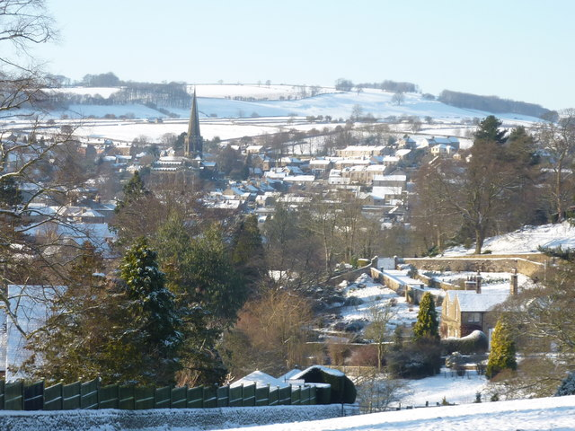 The town of Bakewell in the snow, Jan 2010