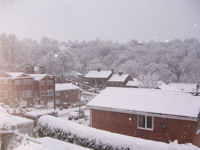 New Year Snow in Oughtibridge - 1