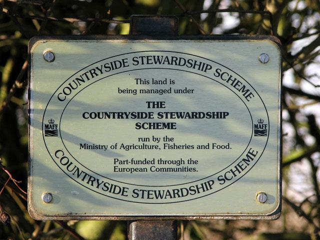 Countryside Stewardship Scheme - sign