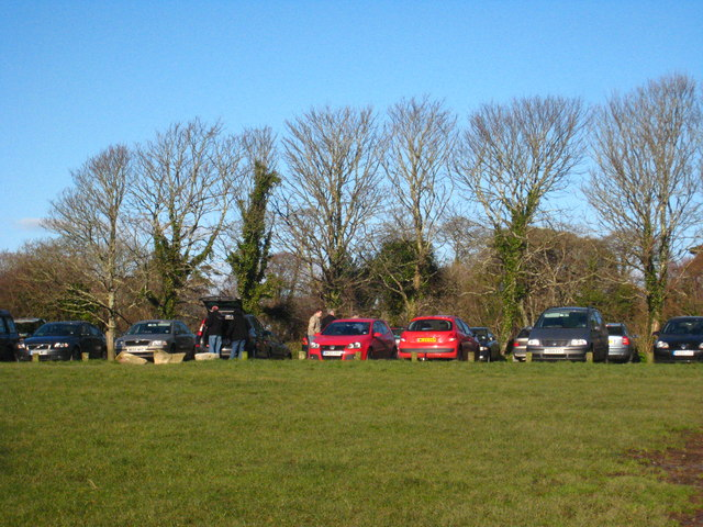 The National Trust car park at Bosveal