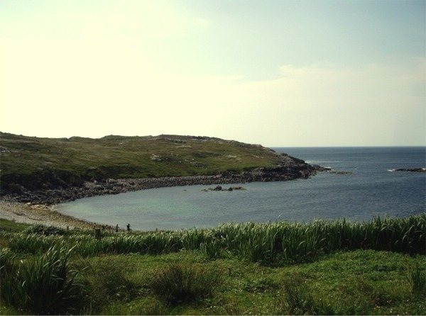 Western shore of Na Gearrannon bay