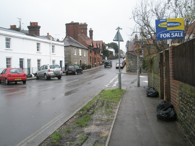 Approaching the junction of Maltravers Street and Surrey Street