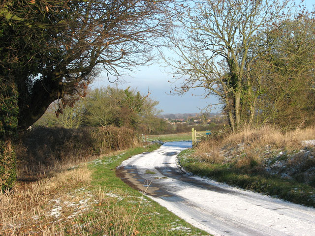 Litchmere Road approaching Hales Green Common