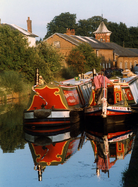 Narrowboats at Bulbourne