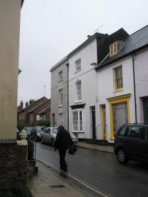 Lone pedestrian in Surrey Street