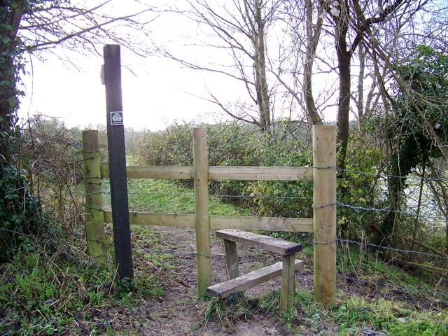 Footpath and stile, West Gomeldon