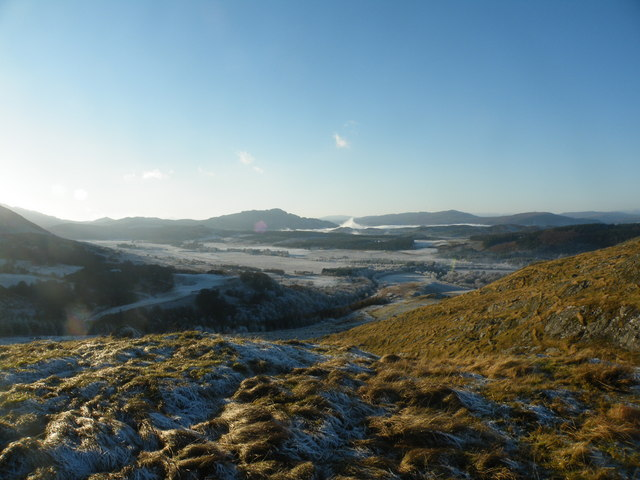 Looking SE from col on Beinn Sgurrach