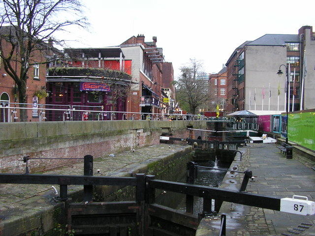 Rochdale Canal Lock 87, Canal Street, Manchester