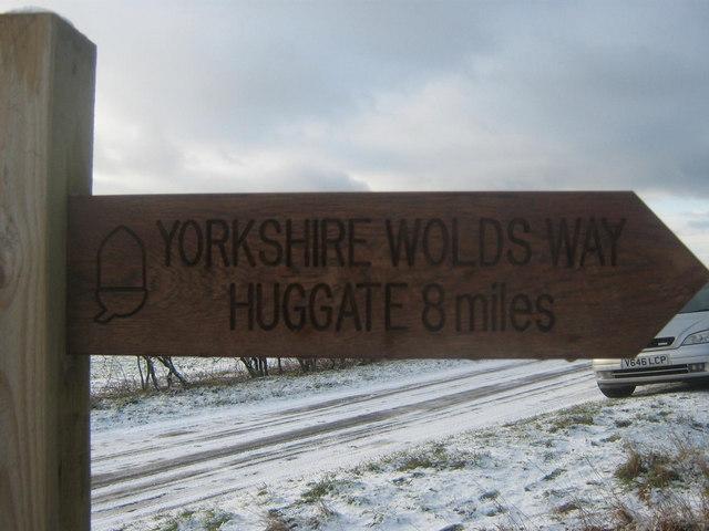 Yorkshire Wolds Way next to Bratt Wood, Nunburnholme, East Riding, Yorkshire