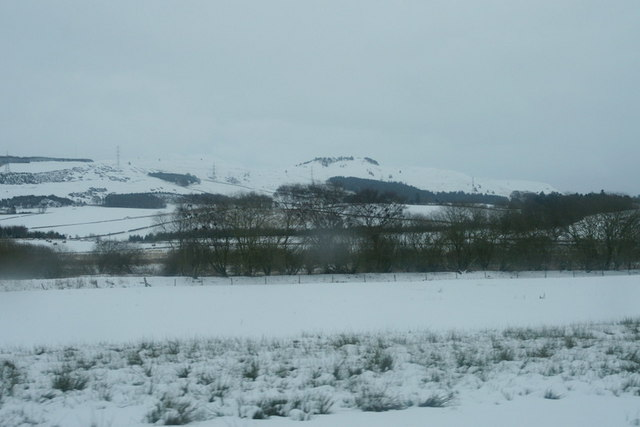 View across to the eastern Sidlaws from Auchterhouse