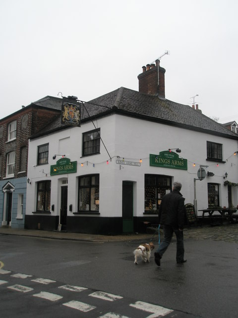 Walking the dog past The Kings Arms