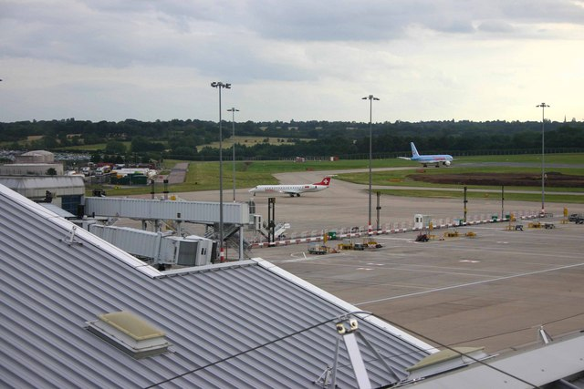 South end taxiway at Birmingham Airport