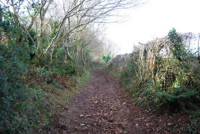 Route with public access west of Stringlands Lane